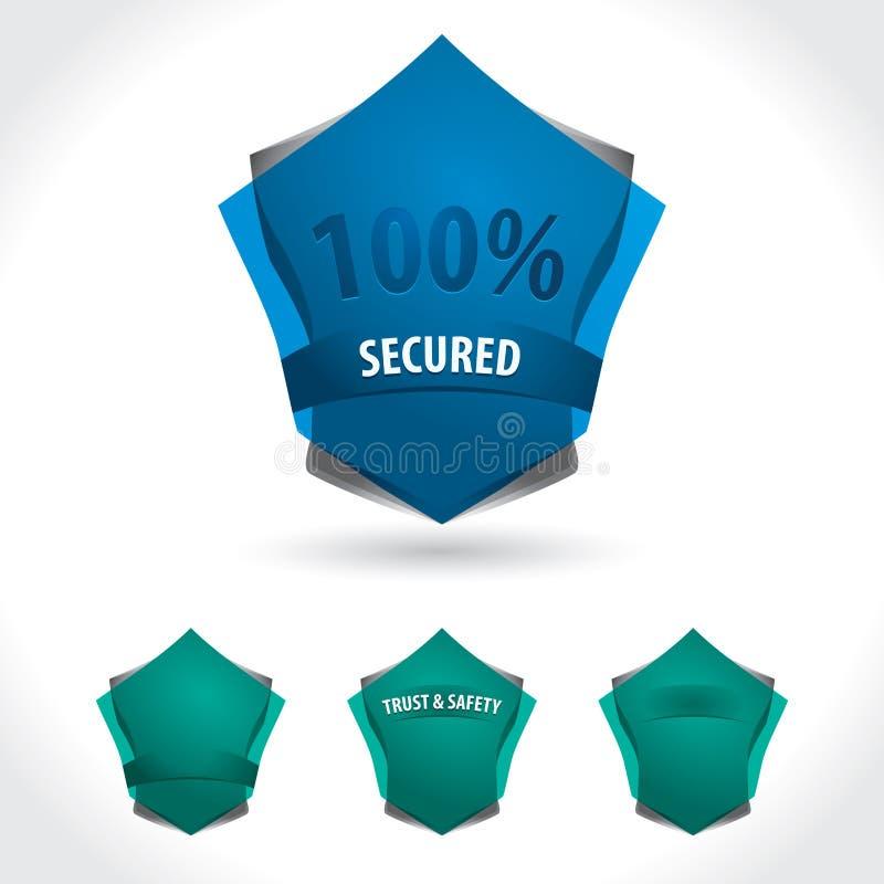 Schermo blu illustrazione di stock