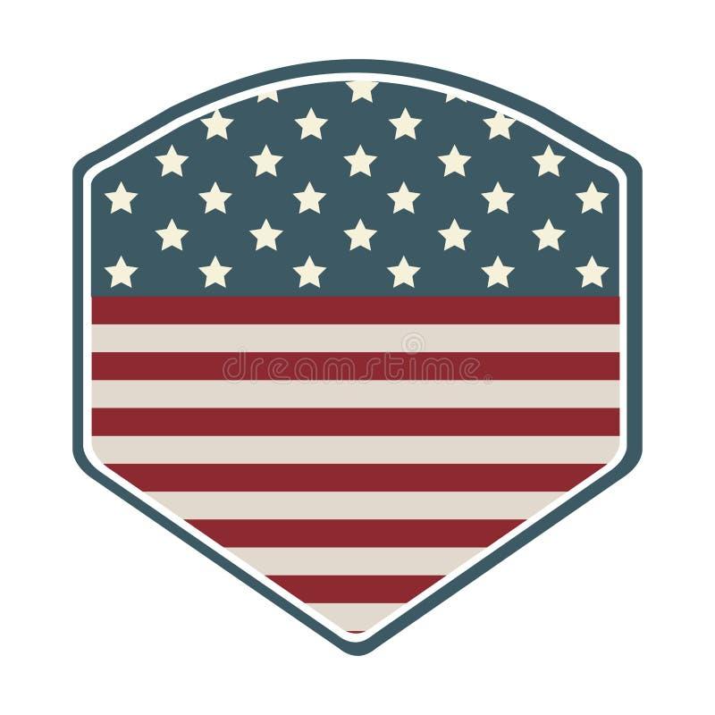 schermo con l'icona della bandiera americana illustrazione vettoriale