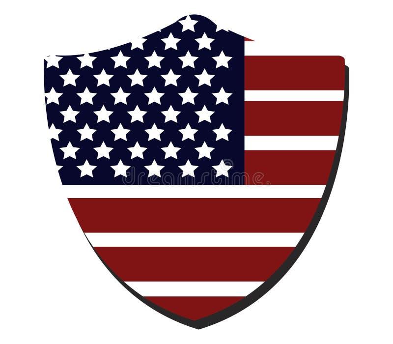 Schermo con la bandiera degli Stati Uniti illustrazione vettoriale