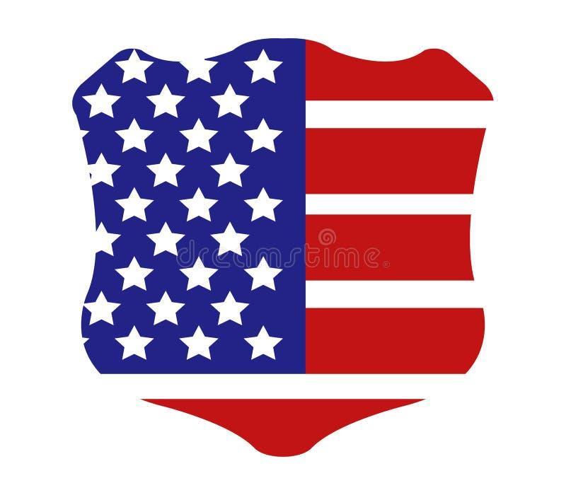 Schermo con la bandiera degli Stati Uniti royalty illustrazione gratis