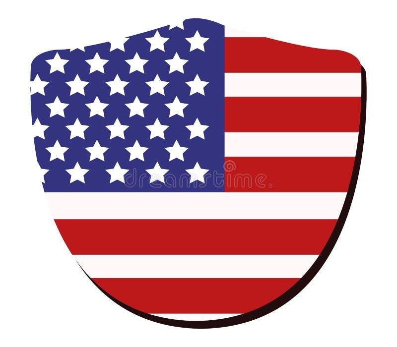 Schermo con la bandiera degli Stati Uniti illustrazione di stock