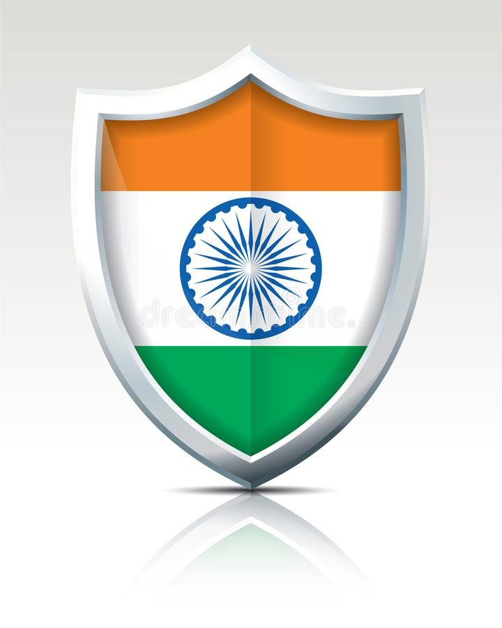 Schermo con la bandiera dell'India illustrazione di stock