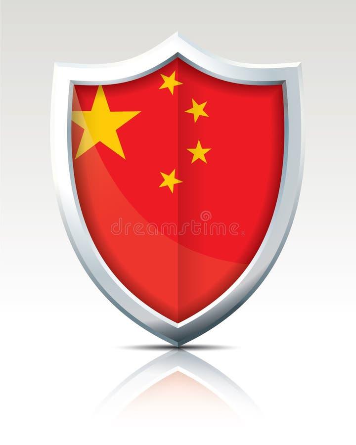Schermo con la bandiera della Cina illustrazione di stock