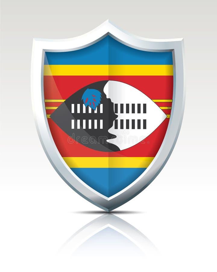 Schermo con la bandiera dello Swaziland royalty illustrazione gratis
