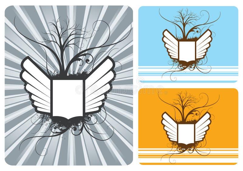 Schermo con le ali illustrazione di stock