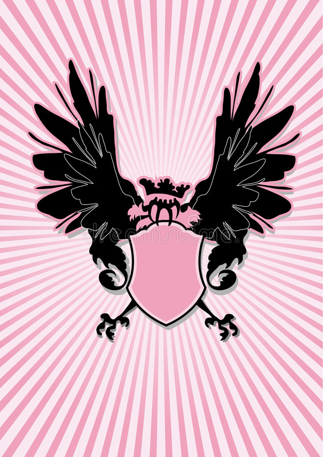 Schermo con le ali nere illustrazione di stock