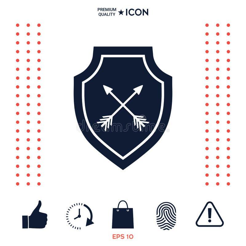 Download Schermo Con Le Frecce Icona Di Protezione Illustrazione Vettoriale - Illustrazione di sicurezza, password: 117976813