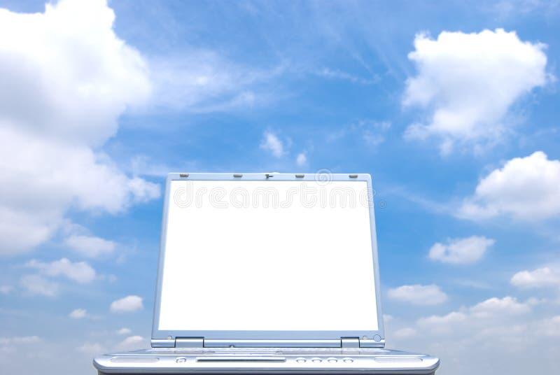 Schermo del computer portatile fotografia stock libera da diritti