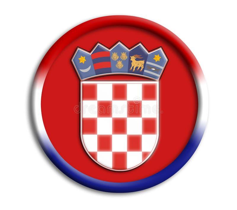 Schermo del Croatia per i olympics royalty illustrazione gratis