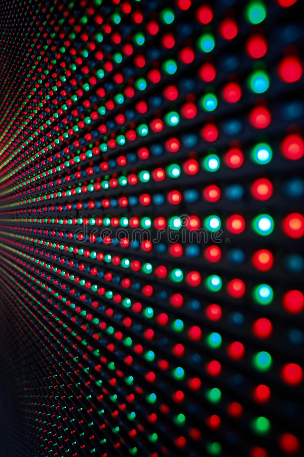 Download Schermo del LED fotografia stock. Immagine di modello - 7324266