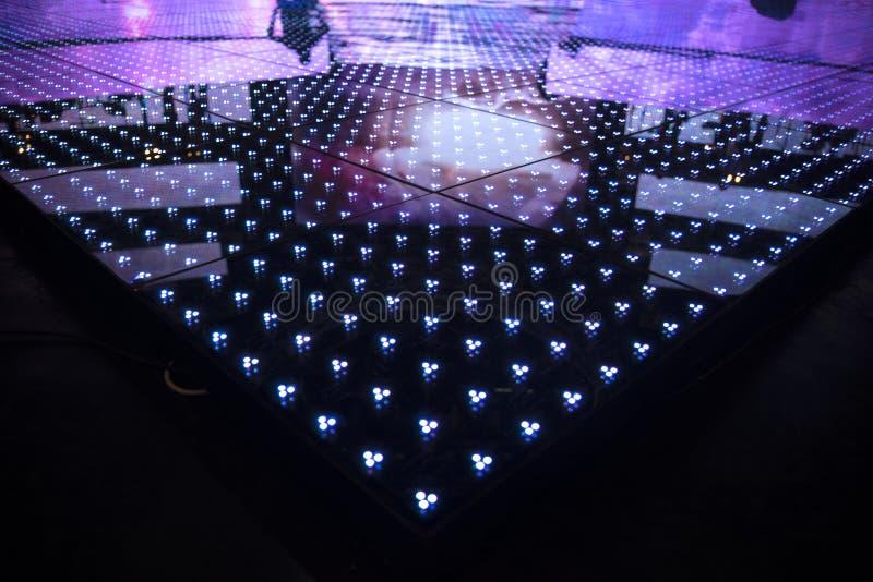 Schermo del LED ad un primo piano di concerto fotografia stock