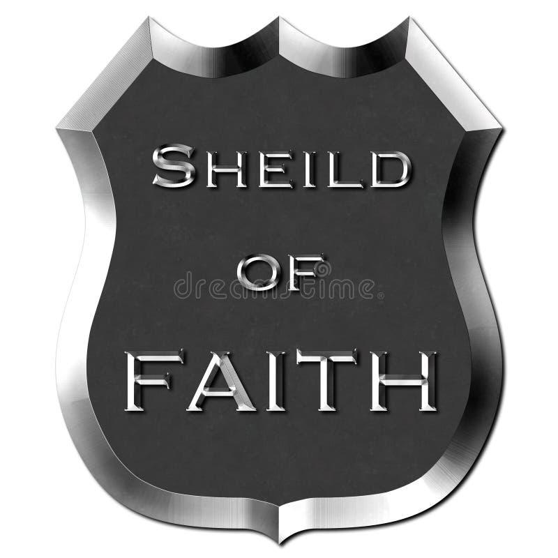 Schermo del metallo del segno di fede illustrazione vettoriale