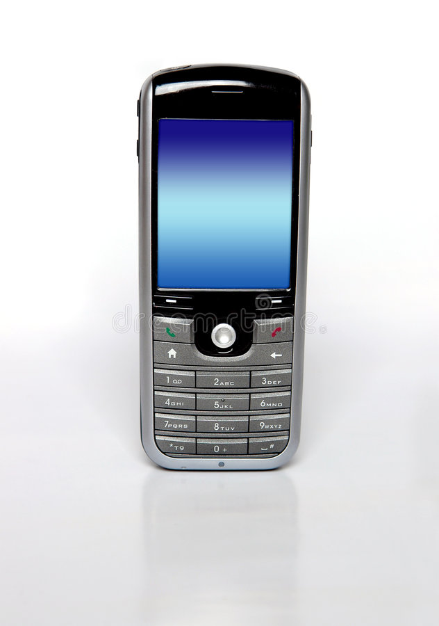 Schermo del telefono mobile fotografie stock libere da diritti