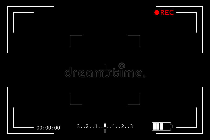 Schermo della registrazione della macchina fotografica royalty illustrazione gratis