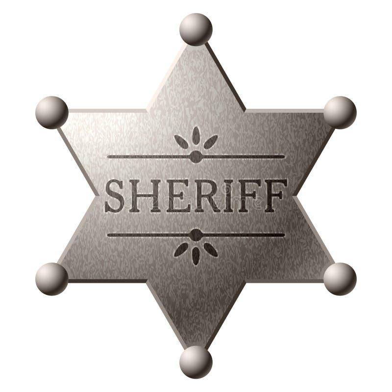 Schermo dello sceriffo royalty illustrazione gratis