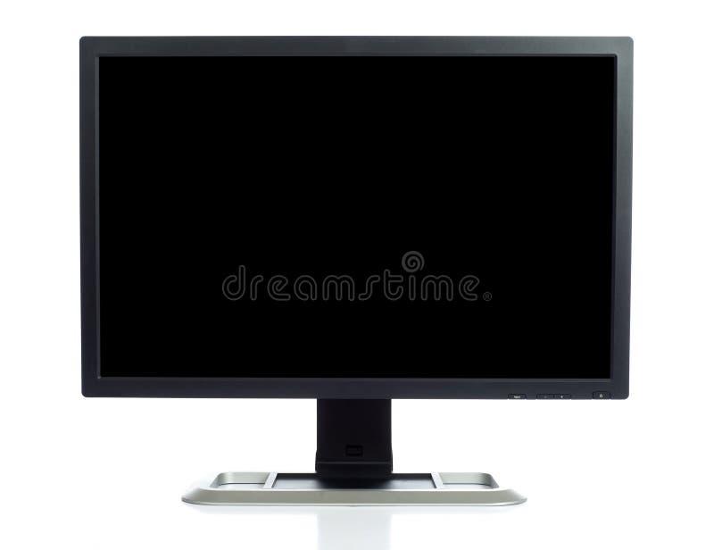 Schermo di computer su bianco fotografie stock