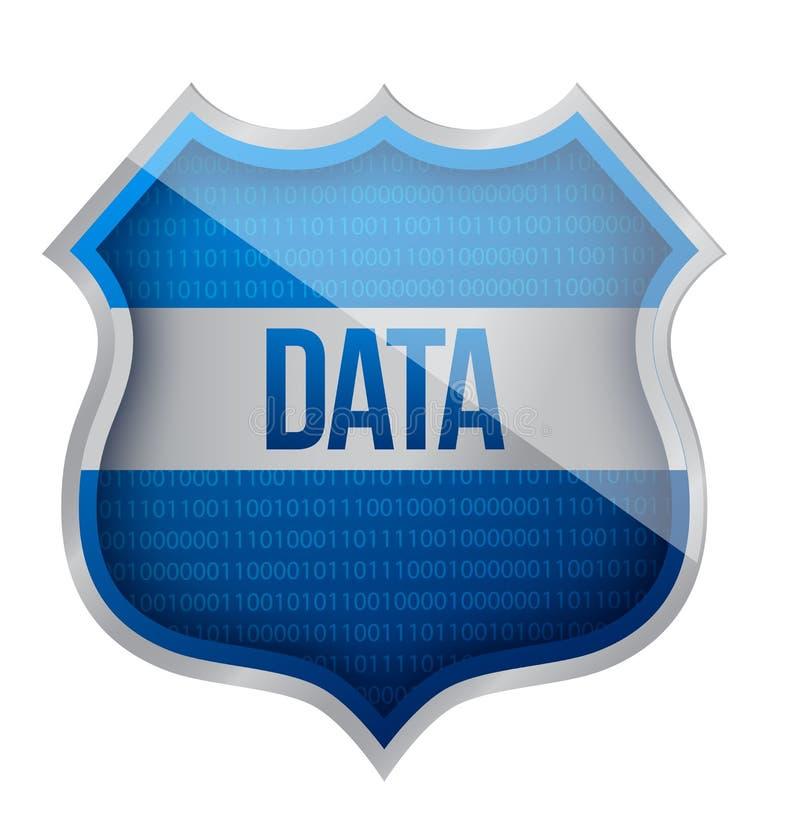 Schermo di dati di sicurezza illustrazione di stock