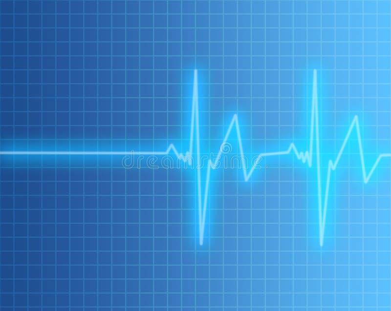 Schermo di frequenza del polso o del cuore royalty illustrazione gratis