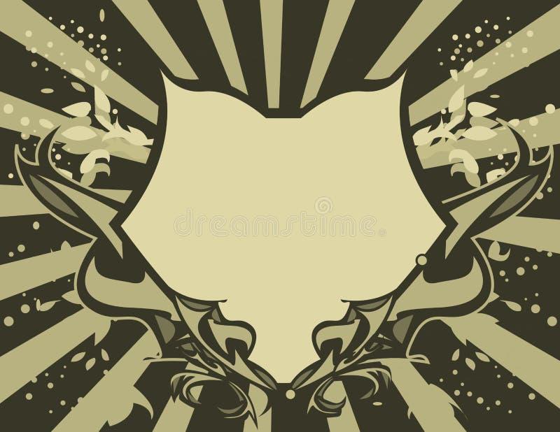 Schermo di Gray del Tan illustrazione di stock