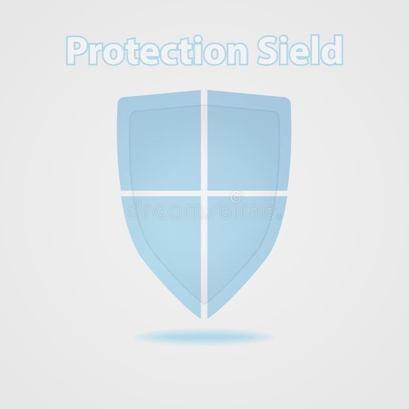 Schermo di protezione Sicurezza di tecnologia Vettore immagine stock