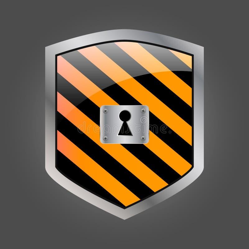 Schermo di Secuirity con il buco della serratura illustrazione vettoriale