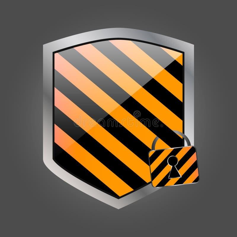Schermo di Secuirity con la serratura 2 illustrazione vettoriale