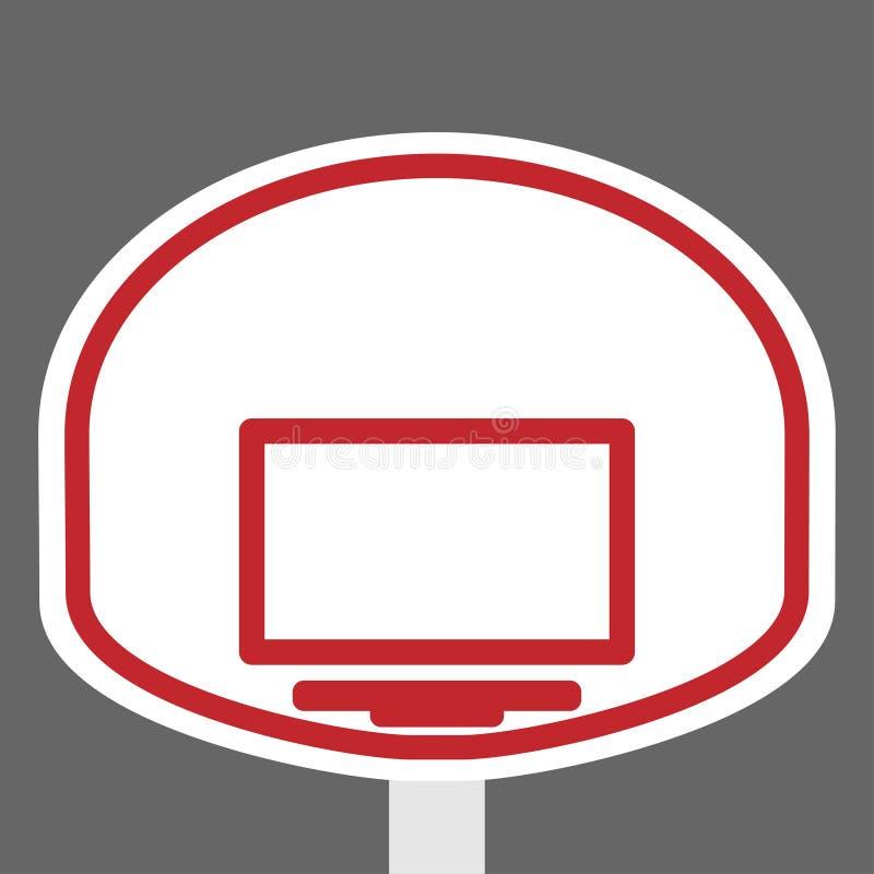 Schermo ed anello del canestro per la pallacanestro illustrazione vettoriale