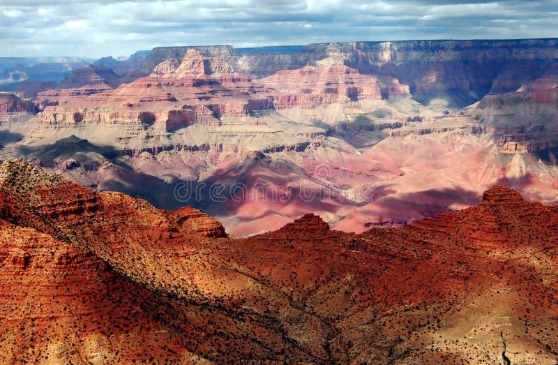 Schermo ed ombra del grande canyon immagine stock