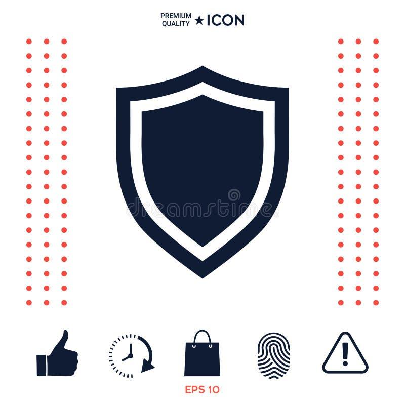 Download Schermo Icona Di Protezione Illustrazione Vettoriale - Illustrazione di crittografia, anti: 117976841