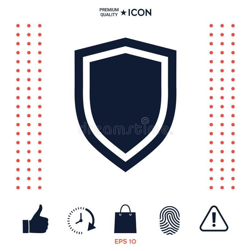 Download Schermo, Icona Di Protezione Illustrazione Vettoriale - Illustrazione di grafico, emblema: 117976842