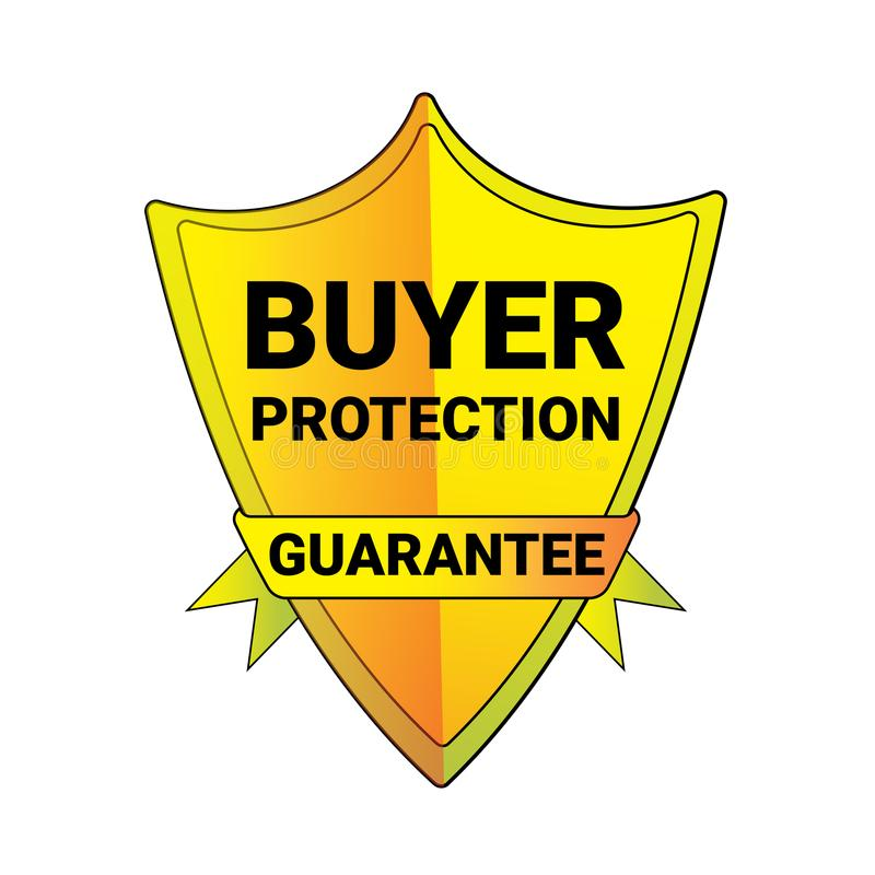 Schermo Logo Isolated Badge Icon di garanzia di protezione del compratore della guarnizione illustrazione vettoriale