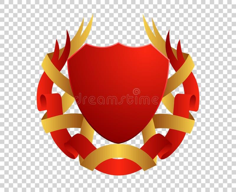 Schermo medievale Stemme Re e regno Emblema del premio di vettore royalty illustrazione gratis