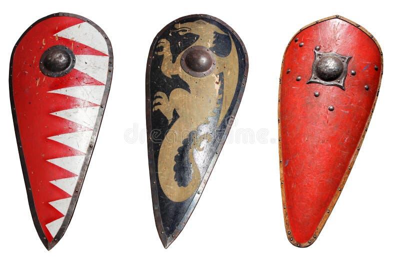 Schermo medioevale del cavaliere immagine stock