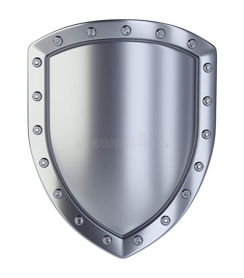 schermo metallico 3d illustrazione di stock