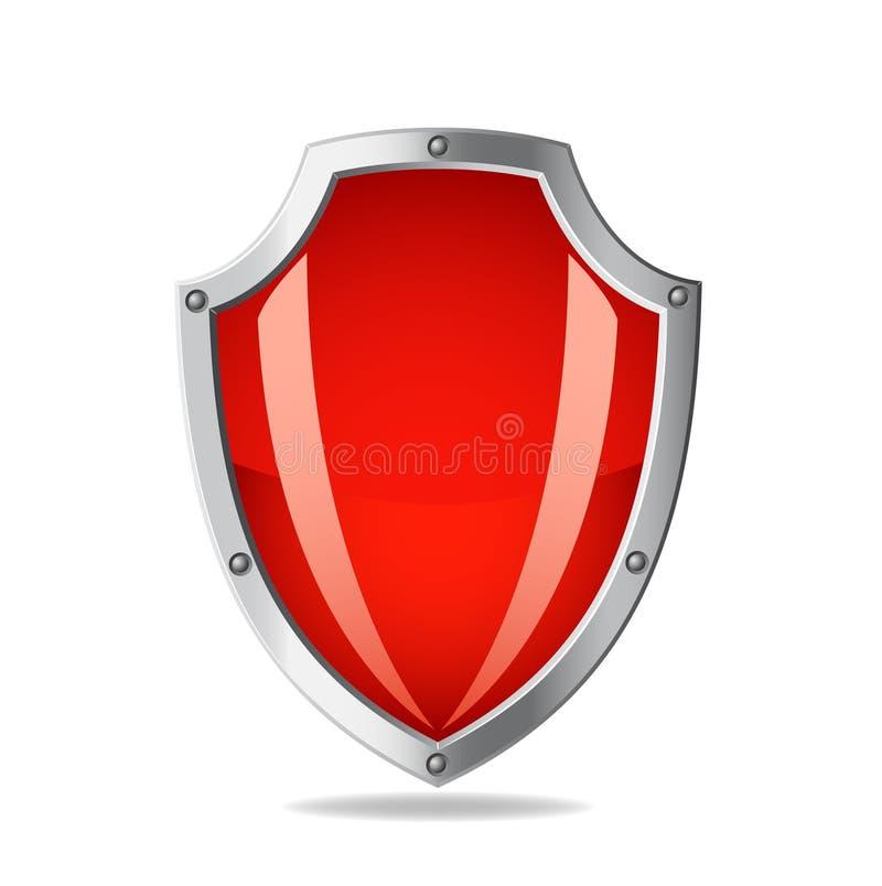 Schermo metallico rosso di vettore royalty illustrazione gratis