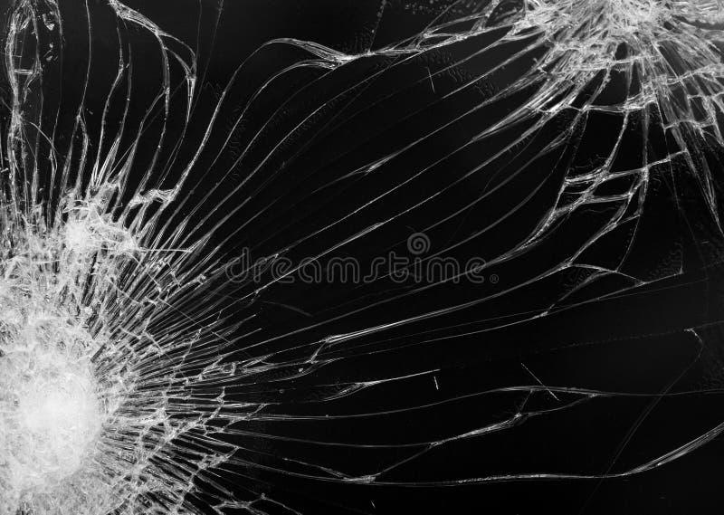 Schermo nero rotto della fine dello smartphone su immagini stock libere da diritti