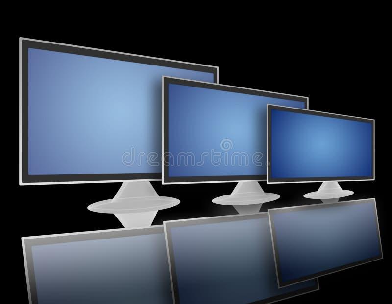 Schermo piano dell'affissione a cristalli liquidi della TV (02) illustrazione vettoriale