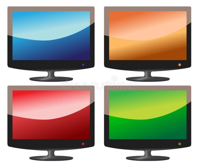 Schermo piano TV fotografia stock