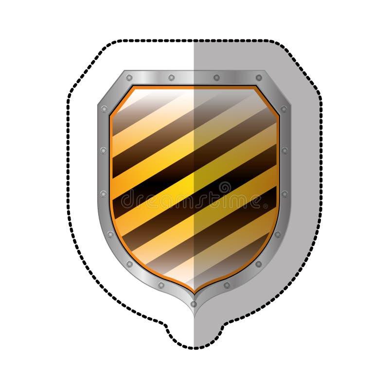 schermo quadrato metallico dell'autoadesivo con le linee forma diagonali variopinte royalty illustrazione gratis
