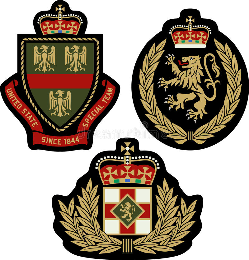 Schermo reale del distintivo dell'emblema illustrazione vettoriale