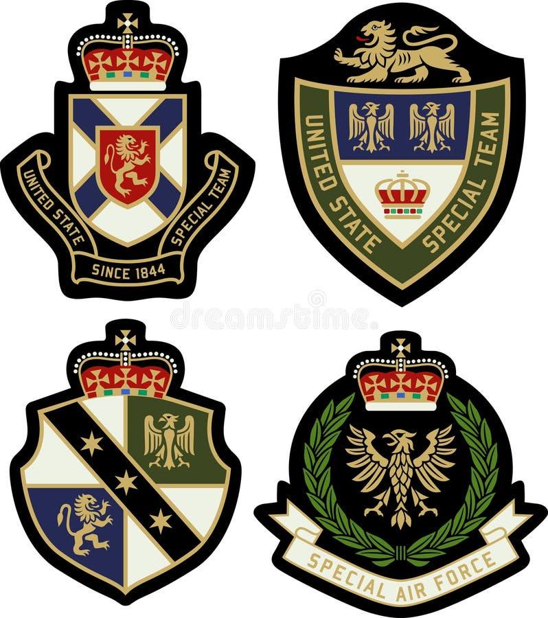 Schermo reale del distintivo dell'emblema royalty illustrazione gratis