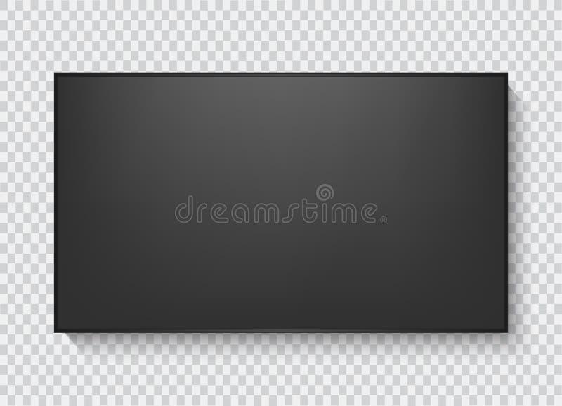 Schermo realistico della TV Pannello LCD alla moda moderno, tipo del LED Modello dell'esposizione del monitor del grande computer royalty illustrazione gratis