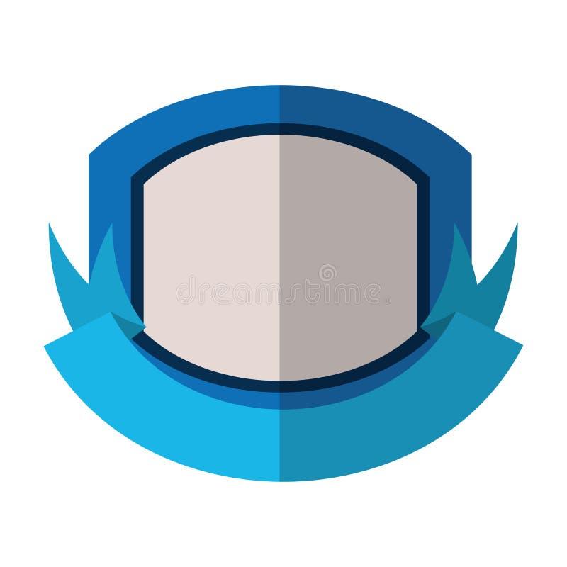 schermo rosso con l'ombra del nastro blu e del fondo bianco illustrazione vettoriale