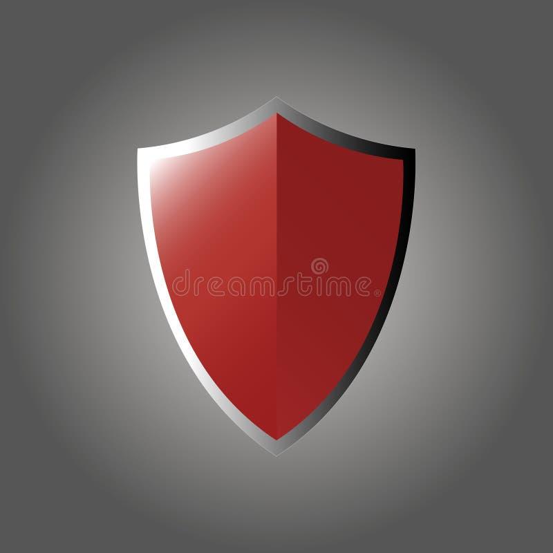 Schermo rosso su un fondo grigio royalty illustrazione gratis