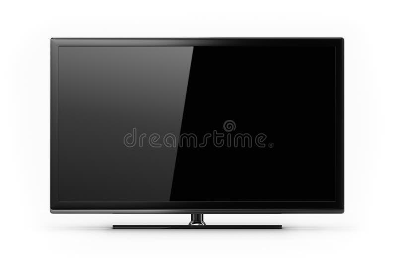 Schermo TV dell'affissione a cristalli liquidi immagine stock libera da diritti