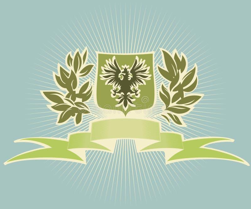 Schermo verde con l'aquila illustrazione di stock