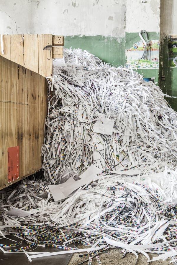 Scherp document voor recycling stock foto