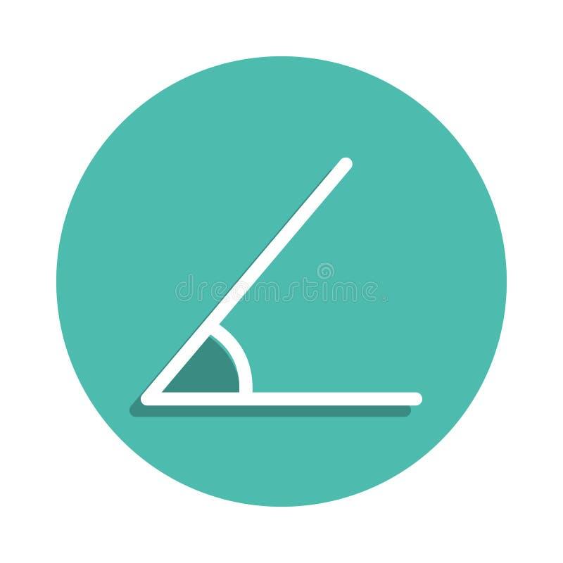 Scherp hoekpictogram Elementen van geometrisch cijfer in de pictogrammen van de kentekenstijl Eenvoudig pictogram voor websites,  stock illustratie
