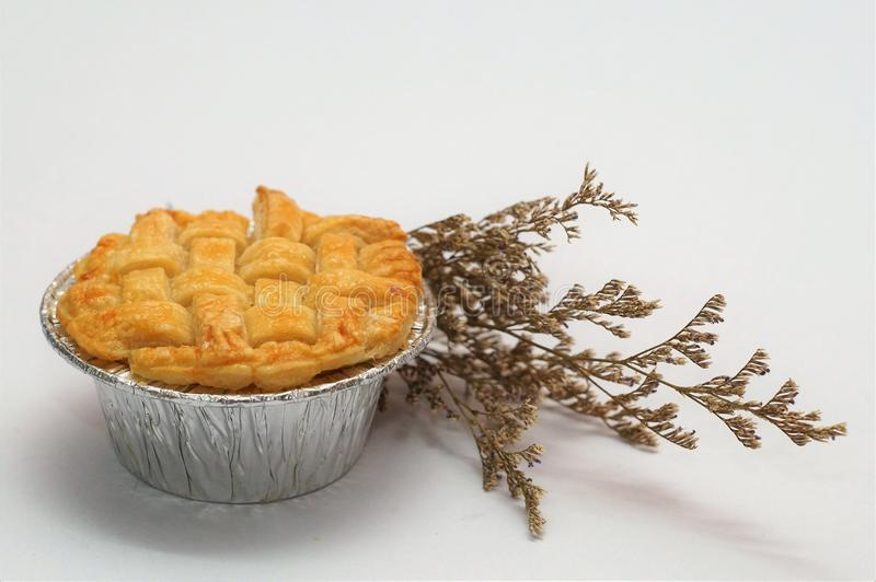 Scherp & Pastei, Eigengemaakte Gebakken, Verse Maaltijd, scherp of zuur in smaak een gebakken schotel van fruit, of vlees en groe royalty-vrije stock fotografie