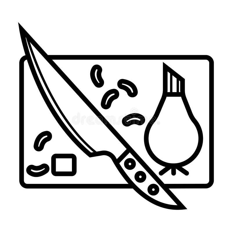 Scherp raadspictogram stock illustratie
